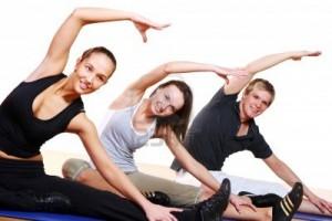 gente practicando ejercicio